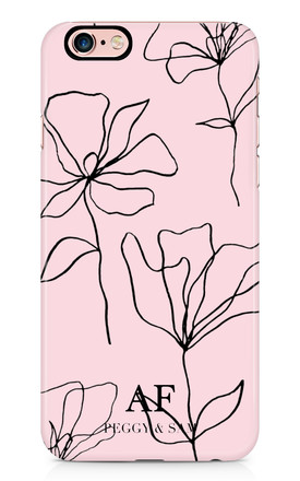 Personalised Phone Case in Pink Floral Doodle Print by Peggy and Sam
