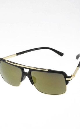 Rectangle Mirror Half Frame Sunglasses by Urban Mist