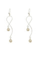 Silver Pearl Drop Snake Design Earrings by Always Chic