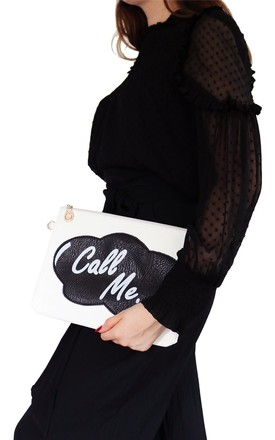 Natalie Slogan Clutch by AVAAYA Product photo