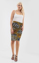 High Waisted Leopard Print Midi Skirt by Oops Fashion
