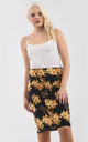 High Waisted Floral Print Midi Skirt by Oops Fashion