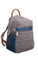 TWEED GRID BACKPACK by BESSIE LONDON