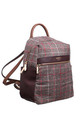 TWEED GRID BACKPACK COFFEE by BESSIE LONDON