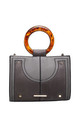 URBAN DOUBLE RING HANDLE TOTE BAG in GREY by BESSIE LONDON