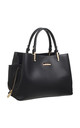 CLASSIC 3 COMPARTMENT TOTE BLACK by BESSIE LONDON