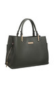 CLASSIC 3 COMPARTMENT TOTE GREEN by BESSIE LONDON