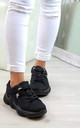Black Ski Hook Chunky Lace Up Trainers by Larena Fashion