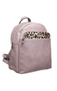 BACKPACK FRONT POCKET in LIGHT PURPLE/LEOPARD PRINT by BESSIE LONDON