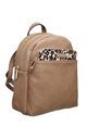 BACKPACK FRONT POCKET in CAMEL/LEOPARD PRINT by BESSIE LONDON