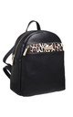 BACKPACK FRONT POCKET in BLACK/LEOPARD PRINT by BESSIE LONDON
