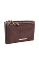 SMALL RECTANGULAR PURSE in COFFEE BROWN by BESSIE LONDON