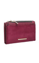 SMALL RECTANGULAR PURSE in RED REPTILE EFFECT by BESSIE LONDON