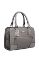 STRUCTURED TOTE BAG WITH FRONT ZIP POCKET in GREY by BESSIE LONDON