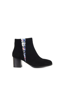 Gloucester Sunset Ankle Boots in Black/Tweed by Yull Shoes