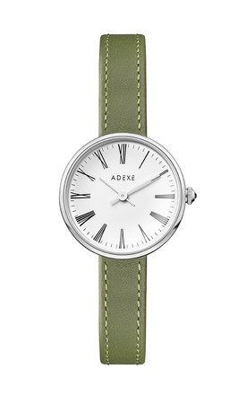 Mini Sistine Watch In Green/Silver by ADEXE Watches Product photo