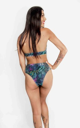 High Leg Triangle Bikini in Sea Snake Print by Tallulah's Threads