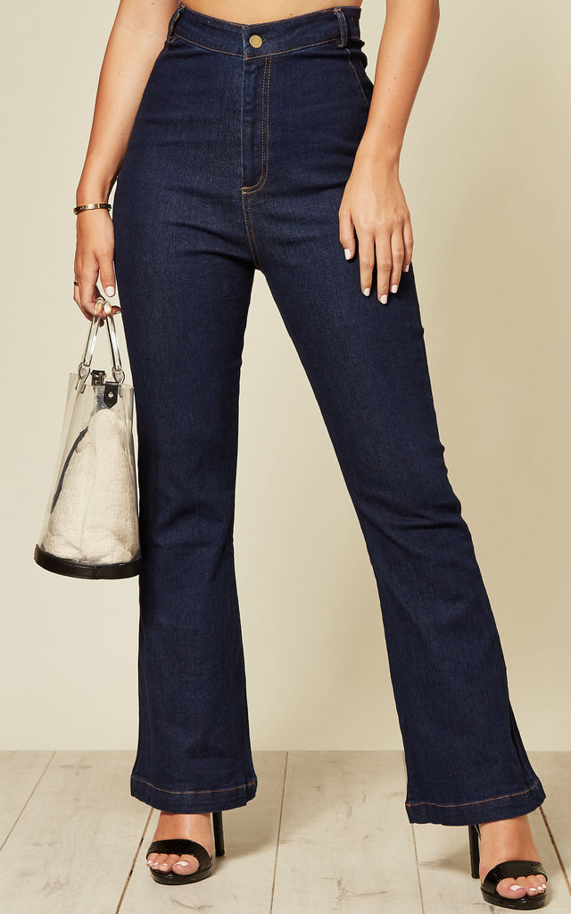 High Waisted Jeans with Bell Bottom by Voodoo Vixen