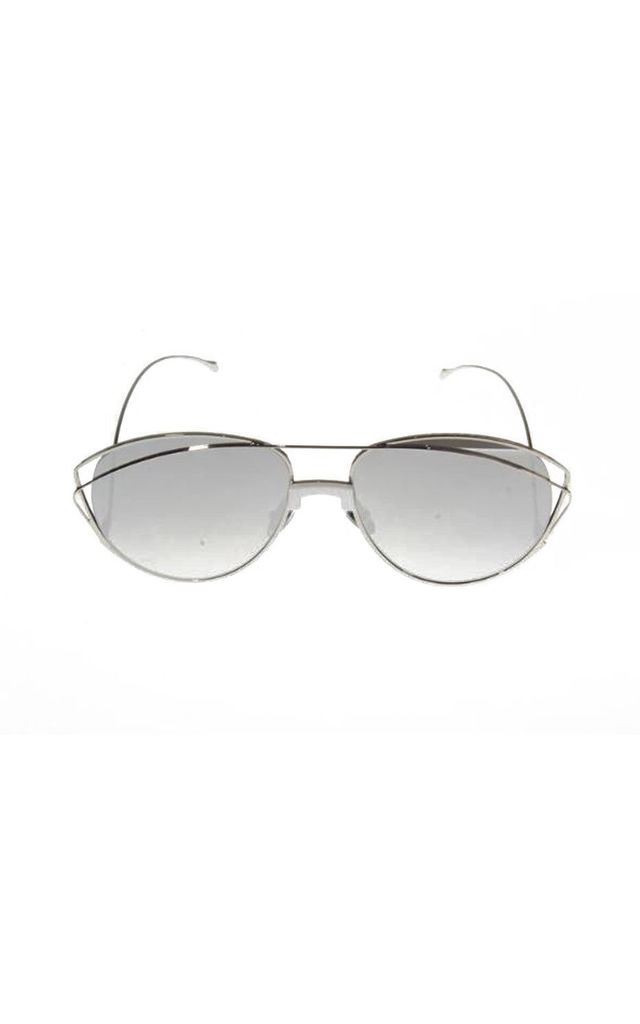 Cat Eye Sunglasses with Curved Arms in Silver by Urban Mist