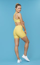 Power Ride Cycle Shorts in Lemon Yellow by Skimmed Milk
