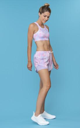 Exhale Sports Bra In Pastel Macaron Brush Stokes by Skimmed Milk Product photo