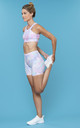 Power Ride Cycle Shorts in Pastel Macaron Brush Strokes by Skimmed Milk