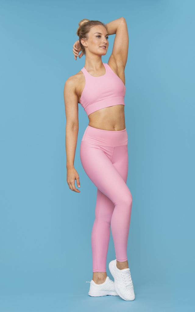 Pulse Sports Bra 2.0 in Pink Strawberry Marshmallow by Skimmed Milk