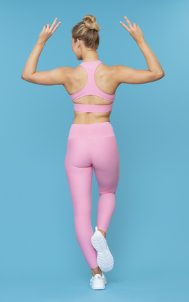 Barre Burn Gym Leggings 2.0 In Pink Strawberry Marshmallow by Skimmed Milk Product photo