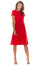 Skater Dress with Short Sleeves in Red by AWAMA