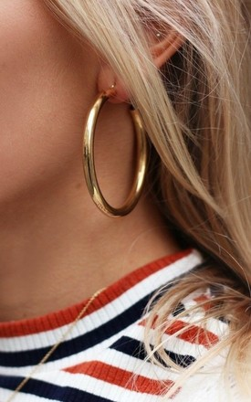 Chunky Gold Hoop Earrings by Olivia Divine Jewellery Product photo
