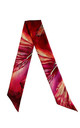 'Bauhinia Red' Luxury Tie Silk Scarf by Leanne Claxton