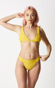 CORETTA - Yellow tie bikini with high leg by GIRL ALLIANCE