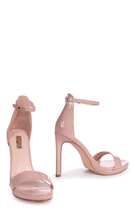 Gabriella Barely There Stiletto Heels in Nude Patent by Linzi