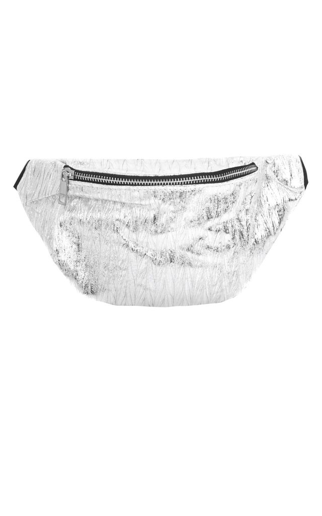 Metallic Bumbag in Silver by SVNX