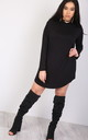 Chloe Oversized Long Sleeve Sweater Dress in Black by Oops Fashion