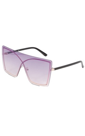 Oversized Visor Sunglasses in Pink Haze by SVNX