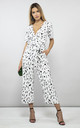 Atlantis Jumpsuit in Black and white print by Dancing Leopard