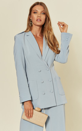 'Peri' Blue Tailored Suit Blazer by RiffRaff Clothing Product photo