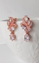 Mini Rose Gold Crystal Drop Earrings by Olivia Divine Jewellery