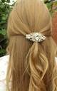Rose Gold Jewelled Bridal Hair Slide Barrette by Olivia Divine Jewellery