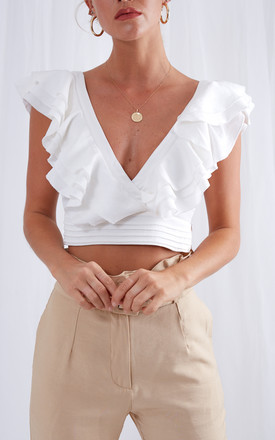 Delilah Ruffle Top   White by Pretty Lavish Product photo