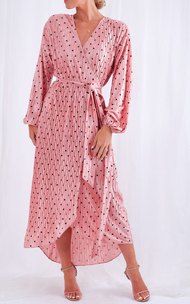 Clancy Plisse Dress   Pink Spot by Pretty Lavish Product photo