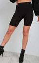 High Waisted Jersey Cycle Shorts in Black by Oops Fashion