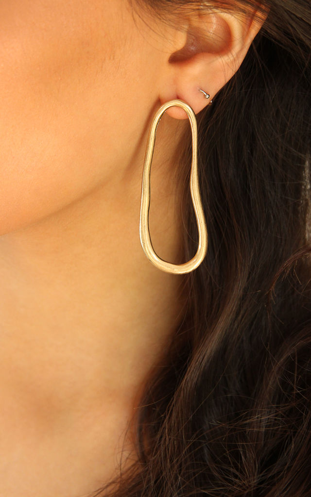 Abstract Hoop Earrings-Gold by FreeSpirits