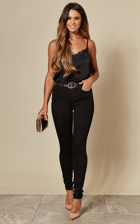 Skinny Fit Stretch Jeans In Black by VILA Product photo