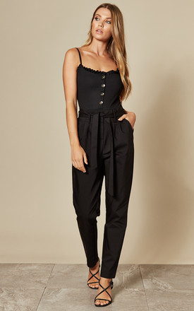 High Waist Paperbag Trousers In Black by VILA Product photo