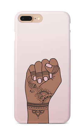 Indian Fist Feminist Phone Case In Pink Ombre by Rani & Co. Product photo
