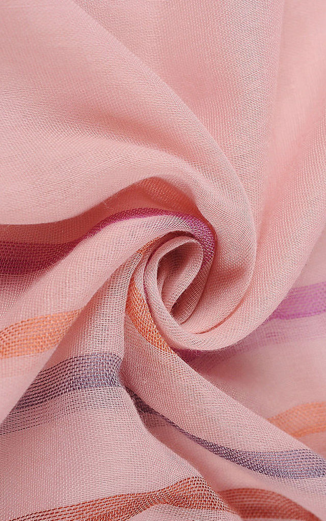 Striped Lightweight Scarf in Light Pink by Xander Kostroma