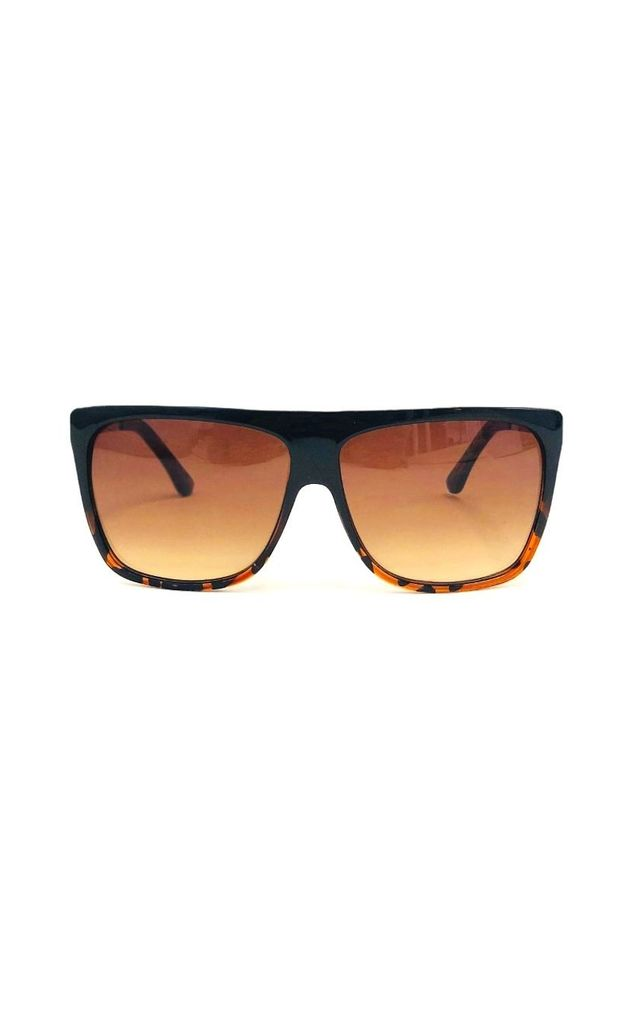 KACE Straight Edge Sunglasses with Leopard Print Detail by ShaniceEmily