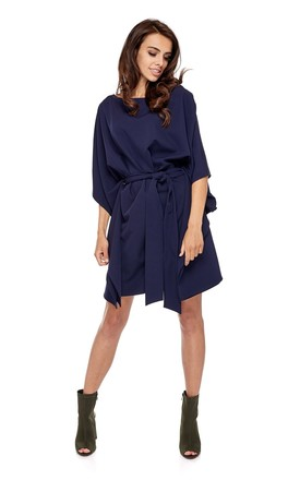 Navy Kimono Style Oversized Dress by By Ooh La La